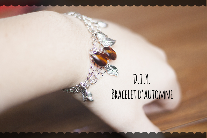 DIY bracelet d'automne