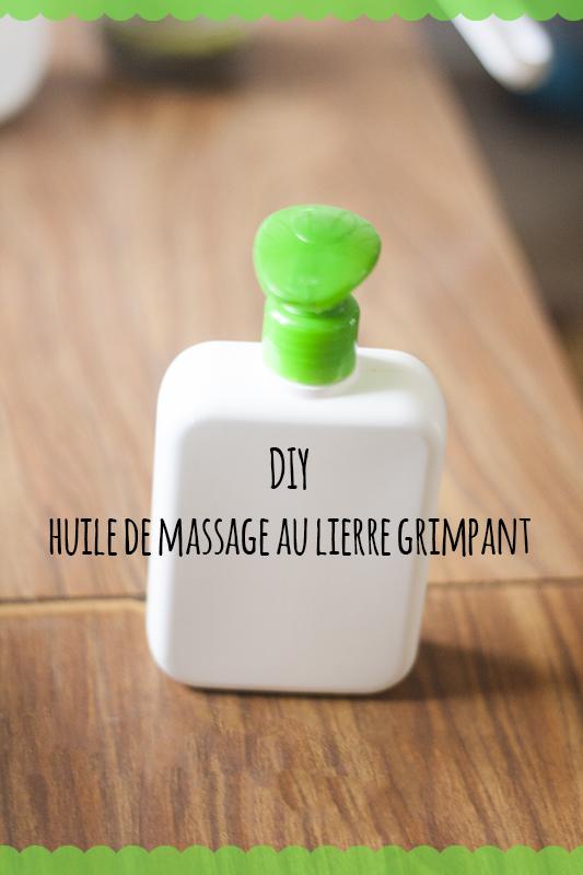 DIY huile de massage au lierregrimpant